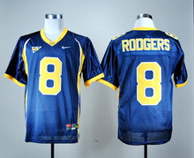 Nike California Golden Bears Aaron Rodgers 8 White College Ice Hockey Jerseys size M,L,XL,XXL,3XL