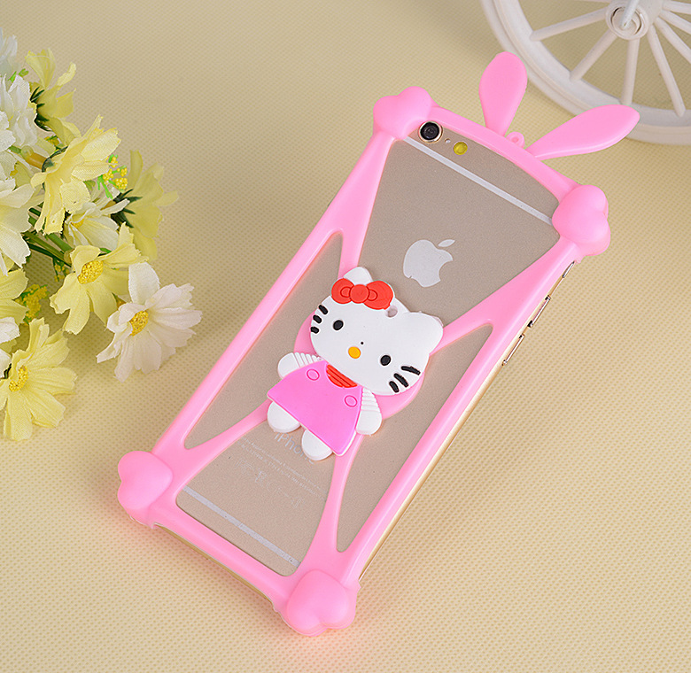 For Fly FS401 451 402 405 406 451 452 454 501 502 504 Case Hello Kitty Cover Coque Universal Silicone Phone Holster Cases Fundas(China)