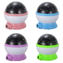 Romantic Rotation Lamp Cosmos Starry Star Night Light Sky Projector USB Home Room Decoration Great Gift Baby Care(China)