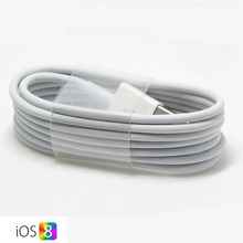 FOR iPhone5 1M USB 8 pin Data Sync Charge cable for iPhone 5 5s 5c iPod Touch Compatible with IOS7.1.2 Free Shipping