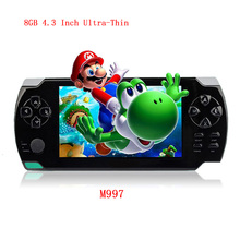 Original classic 4.3 Inch Ultra-Thin Game Console 8G Built In 1000+ Games Portable Video Games Console MP3 Music Player camera