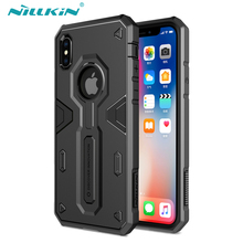 Buy Apple iPhone X Case Nillkin Defender Impact Hybrid Armor Hard Protect Cover Strong iPhone X Phone Cases Sturdy Defender for $9.89 in AliExpress store