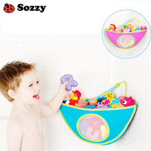 Register shipping SOZZY bathroom corner bath toy bag for children finishing pouch finishing bags swim toys storage baby products(China)