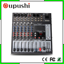 Oupushi  Professional KTV Pre Amplifier Mixer USB 8 Channel  Karaoke EQ Audio Club Mixig Console Digital For Christmas Party