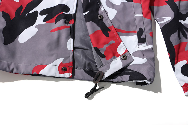 Color Camo Windbreaker Coaches Jackets 13