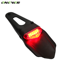 Universal Dirt Fender LED Taillight Rear Tail Brake Light for Bike Offroad Motorcycle