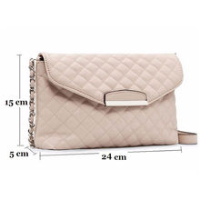 1PC Single Crossbody Messenger Bag White Black Small Boho Handbags Women Girls Faux PU Leather Chain Plaid Clutch Handbag Purse