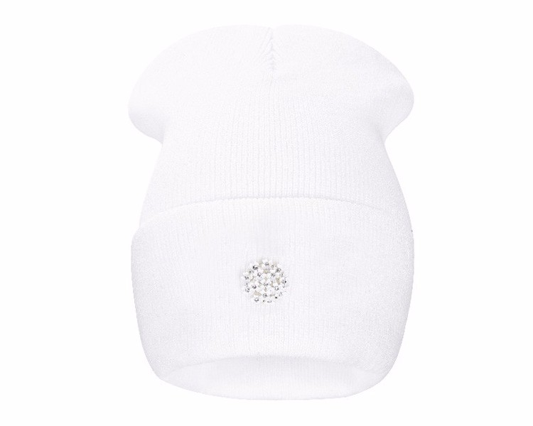 Ralferty New Fashion Lovely Knitting Wool Acrylic Beanies Hip Hop One Flower Hats for Women Gorros Bonnets Caps Woman Floral Cap 1