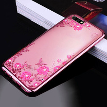 Buy Russia Case Huawei Honor 7A 5.45 inch Plating Crystal Bling Flowers Soft Silicon Back Cover Huawei Honor7A DUA-L22 for $1.36 in AliExpress store