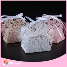 50pcs Rose Flower Laser Cut Candy Box Wedding Favor Box Party Favors Gift box Wedding Decoration Party Supplies