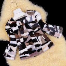 real natural genuine mink fur coat women colorful fashion jacket ladies outwear over coat custom any size