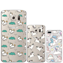 Unicorn for iPhone 7 7 Plus 5 5S SE 6 6S Plus Case for Samsung Galaxy S3 S4 S5 S6 S7 Edge S8 Plus J3 j5 J7 A3 A5 2016 2017 Cover