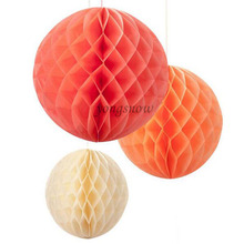 1Pcs Honeycomb Ball Paper Flower Hanging Flower For Wedding Birthday Party Decoration DIY Handcraft Scrapbooking Baby Shower 8Z