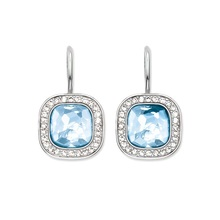 Romantic Blue And Pink Drop Earrings AAA Cubic Zirconia For Women Thomas Style Glam Jewelry Soul Gifts TS Jewelry Brincos