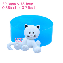 DYL067U 22.3mm Cat Silicone Push Mold - Animal Mold Cupcake Topper Fondant Craft, Jewelry, Cabochon Candy, Resin, Gum Paste Mold