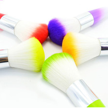 Powder brushes Color Nail Art Dust Cleaner Brushes Tool For Acrylic UV Gel Powder Remover Kit make up kwasten set professionele(China)
