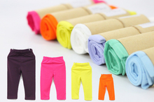 Mix Size & Color 100% Cotton Girls Leggings Long Candy Baby Girl Pants Children's Trousers kids Legging bobo choses 2-6T(China)
