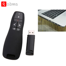R400 2.4Ghz USB Wireless Presenter Laser Pointer PPT Remote Controller Portable Presenter Receiver Pointer Case Red Laser Pen