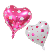 10 pcs/lot 18 inch Wave Love Heart Foil Helium Balloons Wedding Birthday Party Celebration love Helium Balloons Supplies(China)