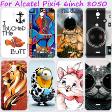 Cases For Alcatel OneTouch Pixi 4 6.0 inch 3G Cover OT-8050D Mobile Phone Skin Silicon Soft TPU Bags Skin Housing
