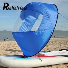 "Relefree 42"" Kayak Wind Paddle Sailing Popup Board Sail Rowing Boats Downwind Boat Windpaddle with Clear Window Water Sport"