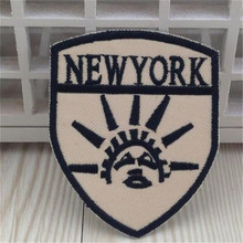 Embroidered iron on patches for clothes Logo Statue of Liberty deal with it clothing biker patch DIY Motif Applique Freeshipping