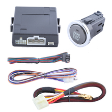 Universal car engine start push button kit with remote engine start/stop, DC12V and support with car alarm system