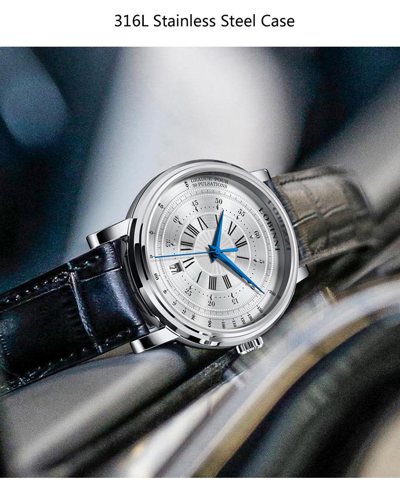 LOBINNI New Men Watches Top Luxury Brand Japan Import NH35A SII O Auto Mechanical MOVT Men's Clock Sapphire reloj hombre L1018-8 7