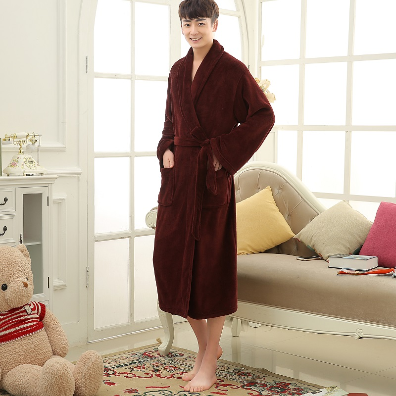 burgundy men winter robes (1)