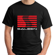2017 New Arrivals Men's Fashion Saleen Muscle Cars Black Design Men's 100% Cotton Tee Shirts High Quality Short Sleeve Tee
