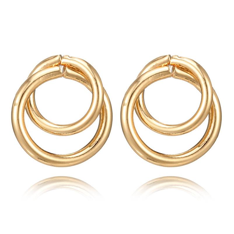 2018 Trendy stud earrings for Women Punk Tone Bamboo Bling Big Hoop Joint Hiphop Circle Pierced Earrings Brincos J04#N (7)