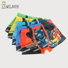 weLaken 5 Pcs/lot Cartoon Children Underpants Comfortable Breathable Underwear Kids Boxer for 3-11Yrs Boys Briefs(China)