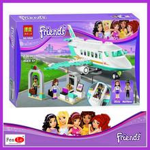 BELA 10545/ lepin girl Friends Heartlake Private Jet models building toy KIDS Bricks toys Gift Compatible With 41100(China)