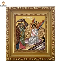 Factory outlets Photo frame Russian Church supplies myrrbearing women wood craft Christian image Byzantine art religious icon(China)