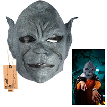 Full Head Scary Latex Mask Grimace Party Masks Horror Masquerade Adult Ghost Movie Mask Halloween Props Costumes Fancy Dress(China)
