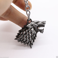 Game of thrones Keychain House Stark Key Chain Song Of Ice And Fire Key Rings Holder Souvenir For Gift Chaveiro Men Jewelry(China)