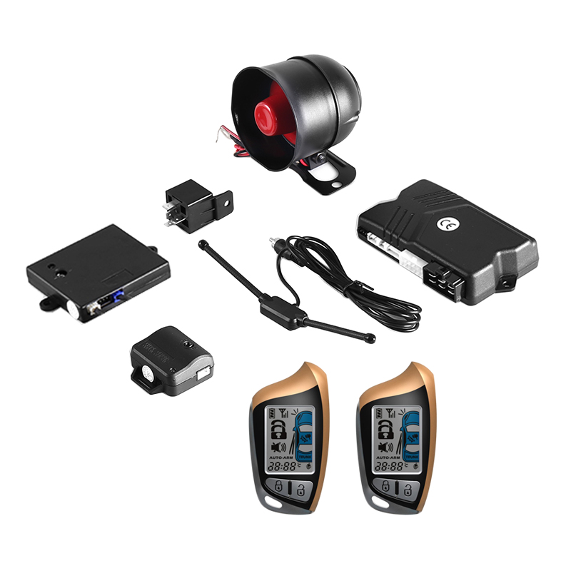 Two-Way Remote Start Car Alarm Security System wit...