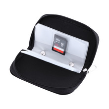 Nylon Memory Card Case For CF/SD/SM/SD/SDHC Card Storage Box Holder Carrying Pouch Case with Zipper Design Black Free Shipping(China)