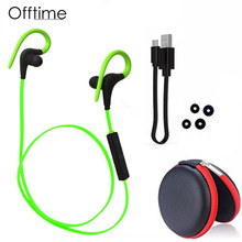 Offtime Q10 Wireless Bluetooth headphone V4.1 Sport earphone Stereo In-Ear Headset APT-X/Mic Smartphones 4 colors - professional earphones&headset Store store