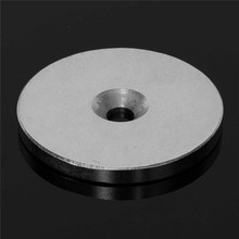 2pcs 50 x 5mm Countersunk Ring Magnets Disc Hole 6mm Rare Earth Neodymium Permanent Magnet DIY Neo Hard to apart away N52