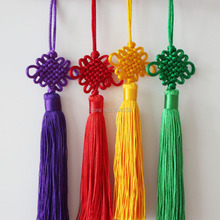 Free Shipping!  4pcs Mix 4 Colors Feng Shui Chinese Knot Hanging Tassel Good Fortune Luck Wealth Prosperity 20CM