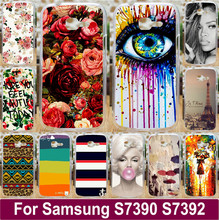 Beautiful Flowers Sexy Girl Tears Mobile Phone Case Hard Back Cover Shell For Samsung Galaxy Trend Lite S7390 S7392 7390 7392