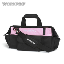 "WORKPRO 16"" Pink Lady Tool Bag 600D Polyester Shoulder Bag Waterproof Tool Bags(China)"