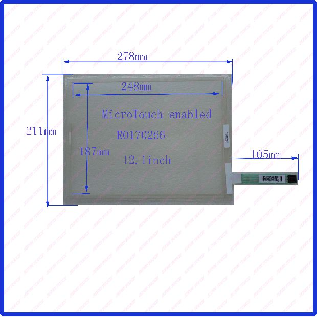 12.1-inch five-wire resistive touch screen 278 * 211 MicroTouch enabled R0170266 screen handwriting<br><br>Aliexpress