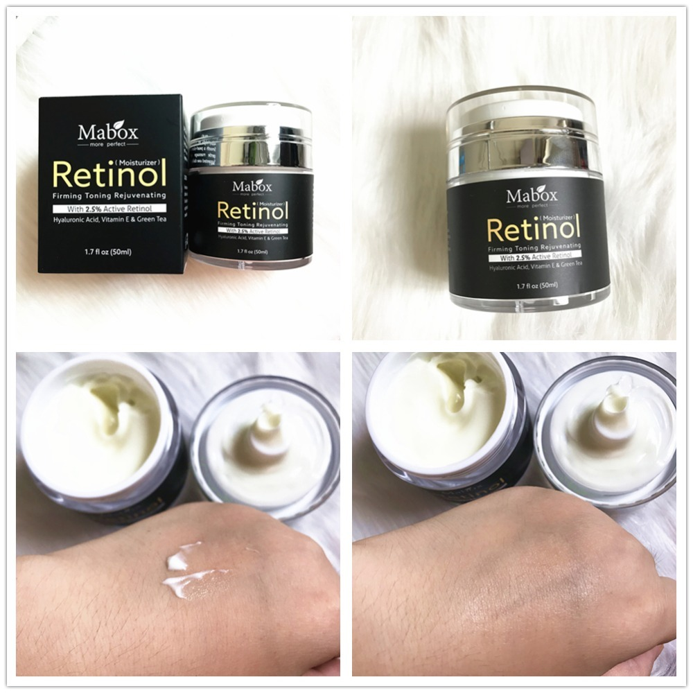 MABOX Retinol 2.5% Moisturizer Face Cream and Eye Hyaluronic Acid Vitamin E Best Night and Day Moisturizing Cream Drop Shipping 12