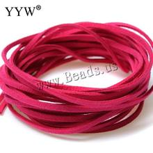 20 Colors 4.5 Meters 3mm*1.5mm Korea Artifical Suede Flat Leather Cord Lace String Strap Necklace Rope Bead Bracelet(China)