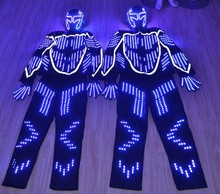 Commercial performance luminous stage costume Led clothes luminous led light robot suit for even party supply
