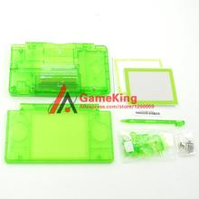 Clear series green yellow full set housing case for DS Lite DSL shell cover with screwdriver 4 colors