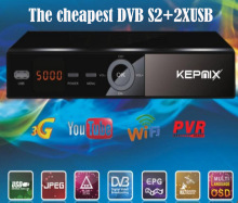 freesat v7 auto update powervu Kepnix satellite receiver 2*usb port supports wifi Youpron AV coutput AC3 biss alphabox x4 ccam