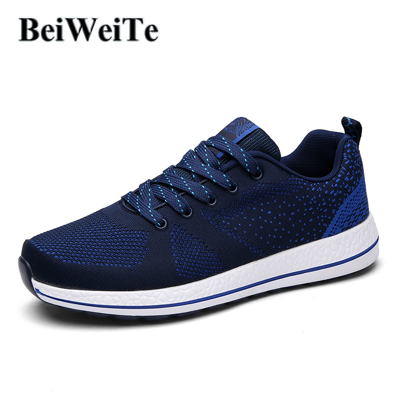 BeiWeiTe Big Size Light Running Shoes For Men Breathable Summer Men Sports Sneakers Brand Stylish Jogging Toursim Shoes Freeship<br>